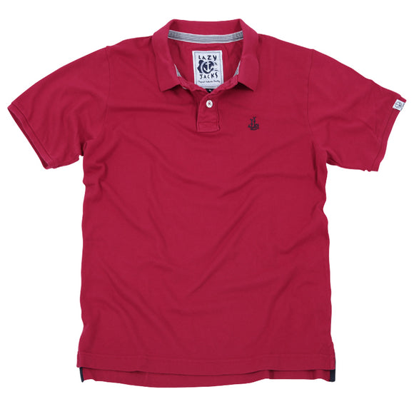 Lazy Jacks Mens Polo Shirt - Red