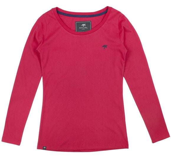 Ladies Long Sleeved T-Shirt - Cherry