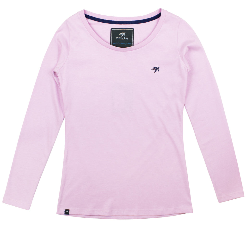 Ladies Ice Pink Long Sleeved T-Shirt