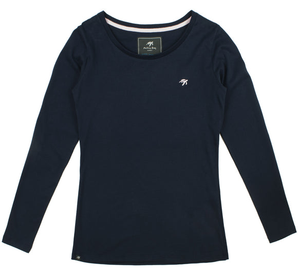 Ladies Long Sleeved T-Shirt - navy