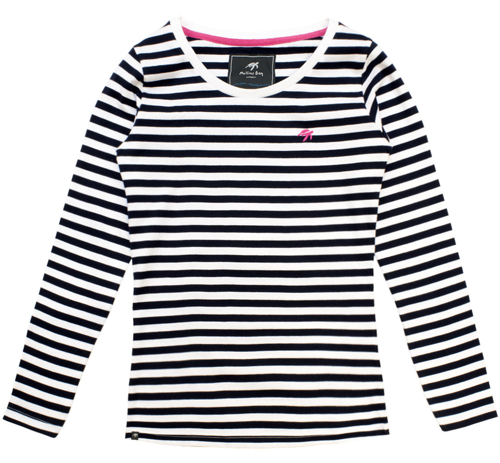 Ladies Striped Long Sleeved T-Shirt - Twilight