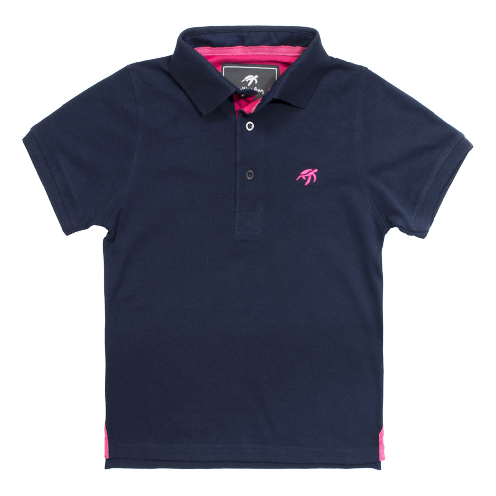 Mullins Bay Childrens Polo Shirt- Navy