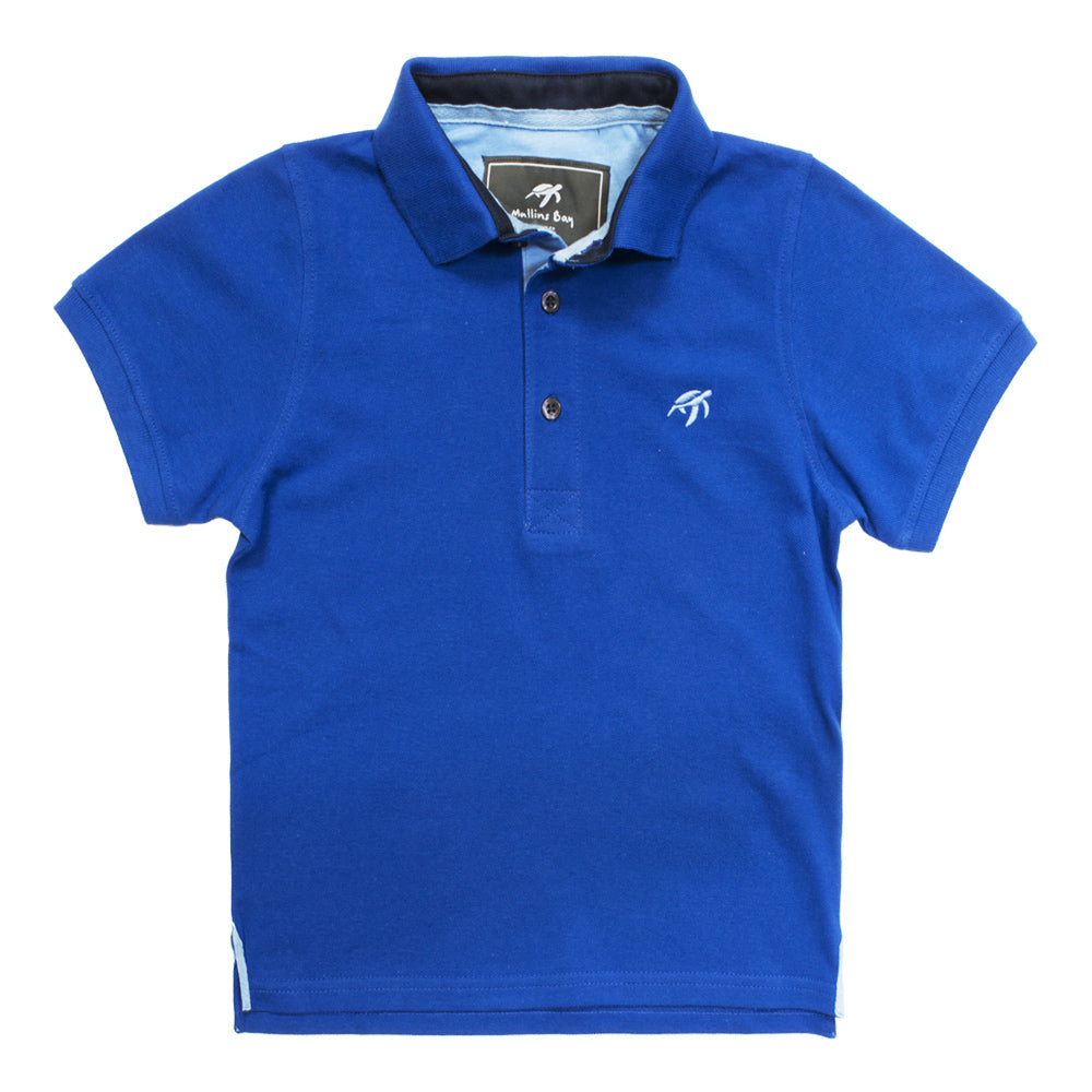 Mullins Bay Childrens Polo Shirt- Electric Blue
