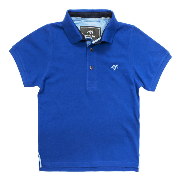 Mullins Bay Childrens Polo Shirt - Electric Blue