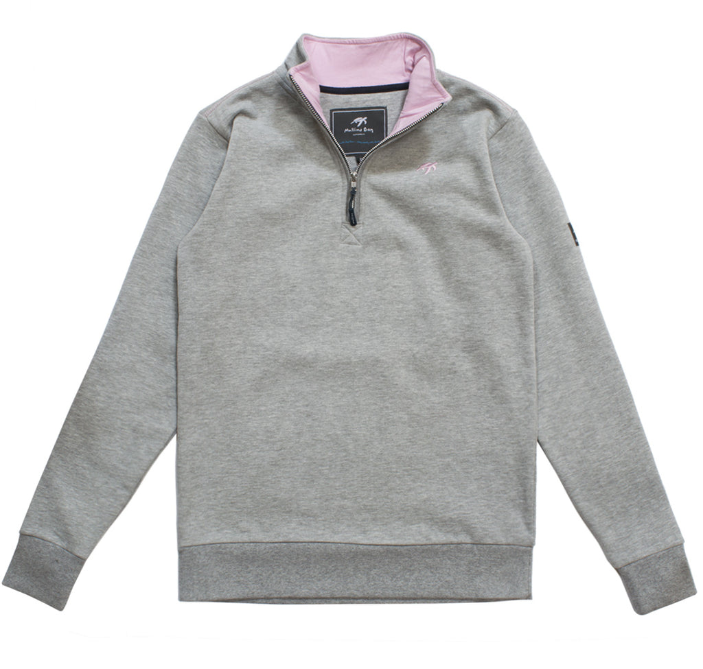 Ladies West Coast Half Zip Sweatshirt - Grey