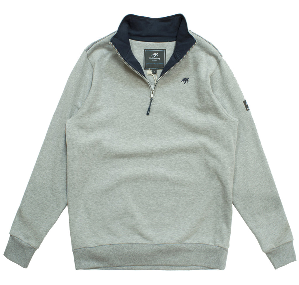 Unisex West Coast Half Zip Sweatshirt - Grey
