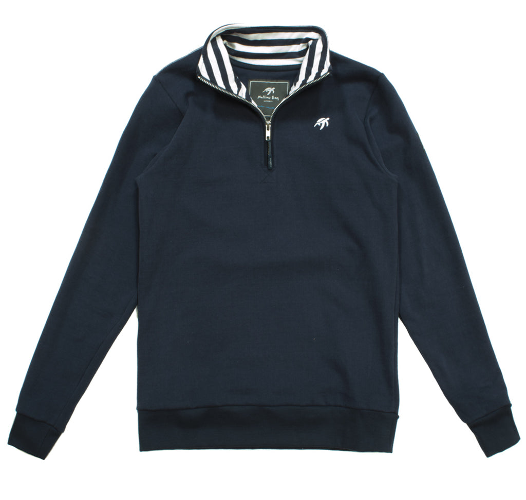 Ladies West Coast Half Zip Sweatshirt - Navy