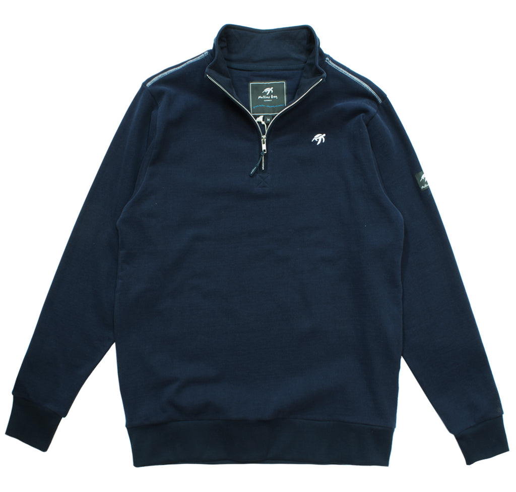 Unisex West Coast Half Zip Sweatshirt - Navy
