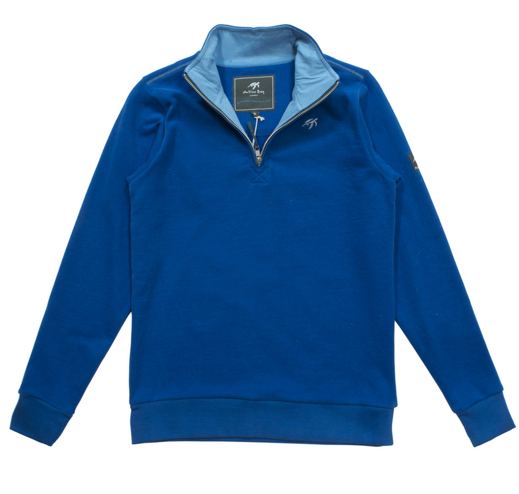 Ladies West Coast Half Zip Sweatshirt - Electric Blue