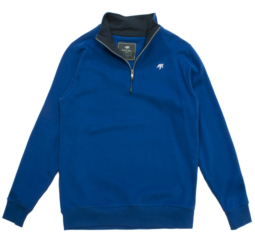 Unisex West Coast Half Zip Sweatshirt - Electric Blue