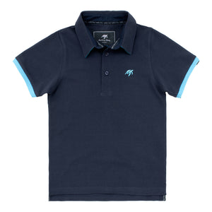 Childrens Mullins Club Polo Shirt - Harbour Blue