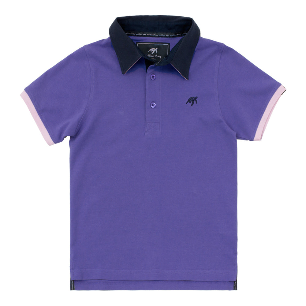 Childrens Mullins Club Polo Shirt Indigo Haze