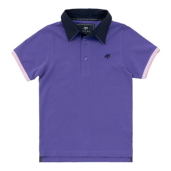 Childrens Mullins Club Polo Shirt - Indigo Haze