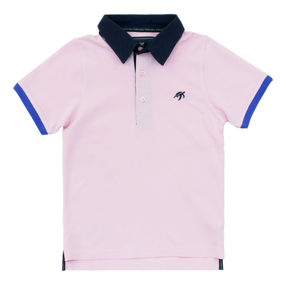 Childrens Mullins Club Polo Shirt - Ice Pink