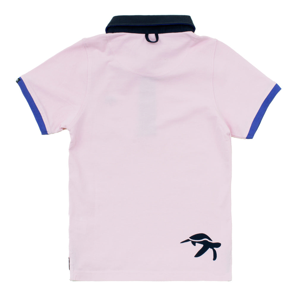 Childrens Mullins Club Polo Shirt Ice Pink