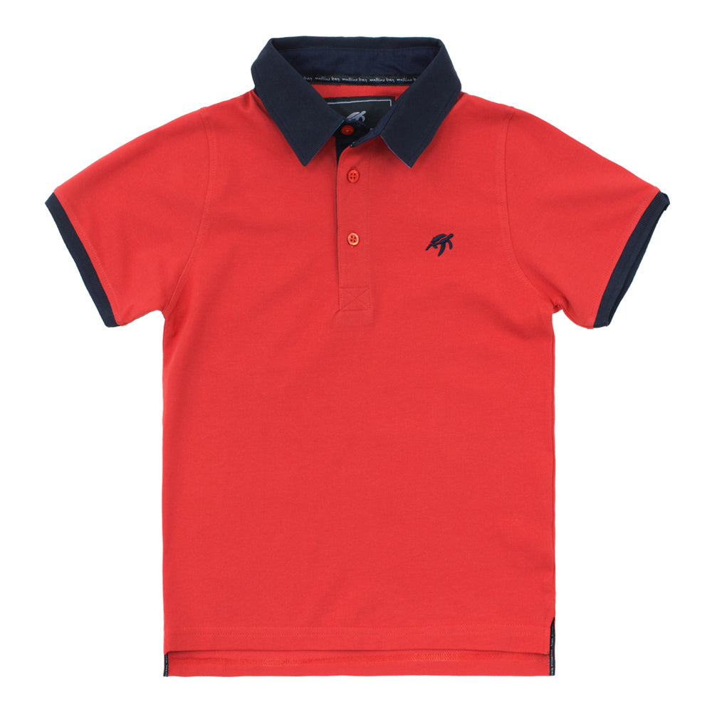 Childrens Mullins Club Polo Shirt - Spicy Red