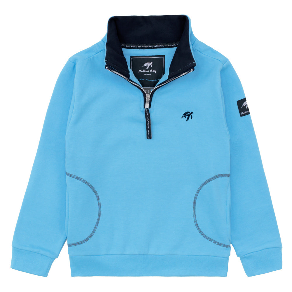 Childrens West Coast Half Zip Sweatshirt Breeze