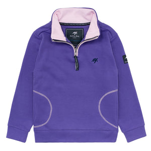 Childrens West Coast Half Zip Sweatshirt Indigo Haze