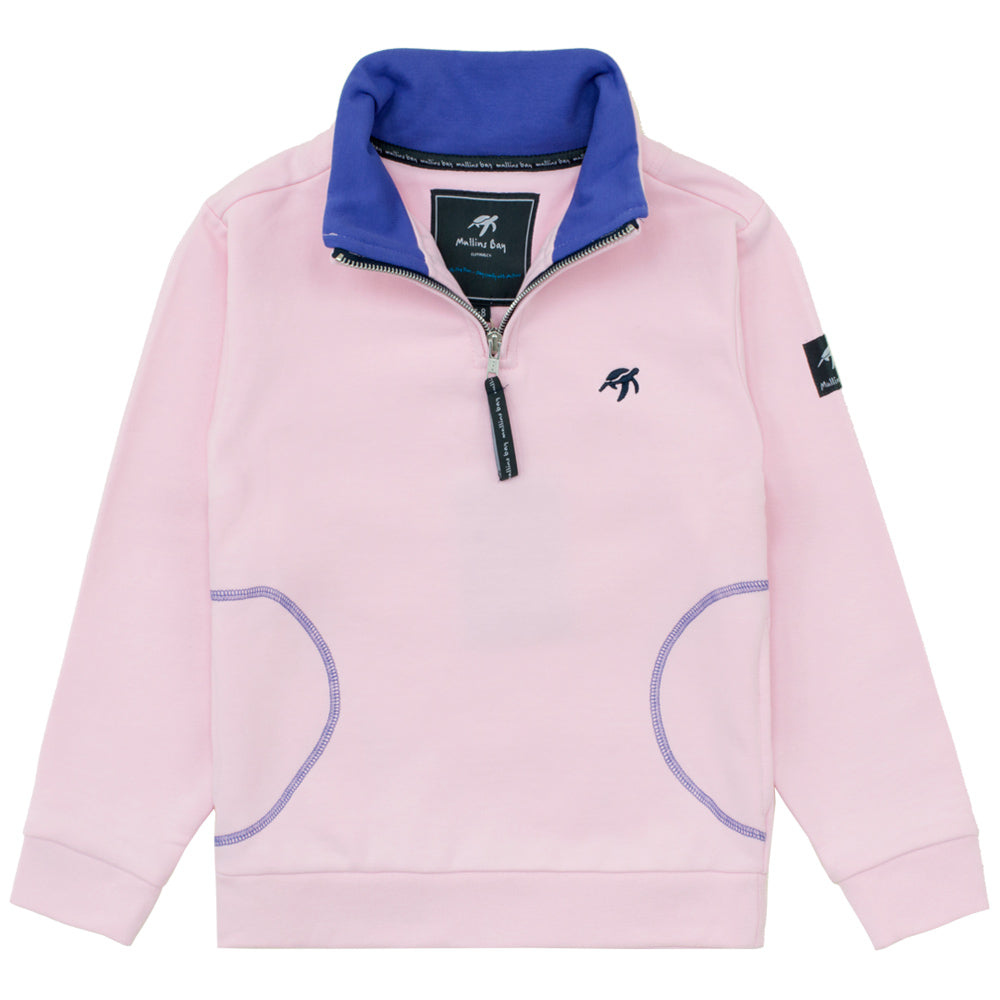 Childrens West Coast Half Zip Sweatshirt  Ice Pink