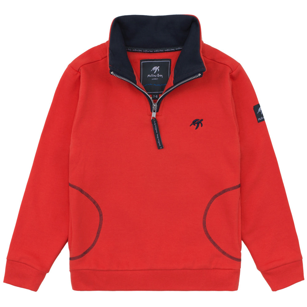 Childrens West Coast  Half Zip Sweatshirt Spicy Red