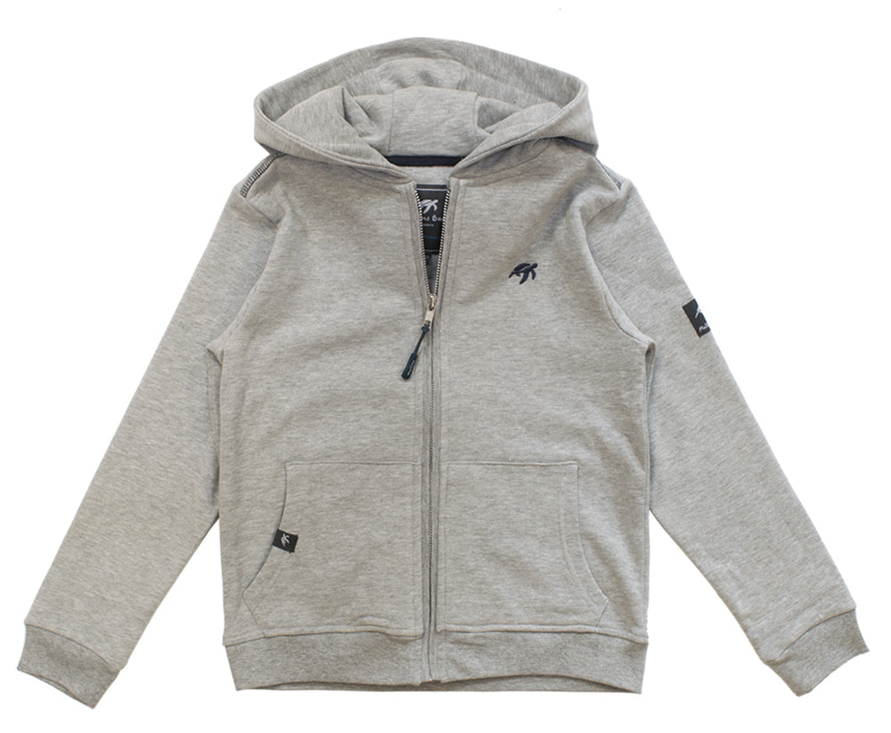 Childrens Boatyard Zip Thru Hood - Grey