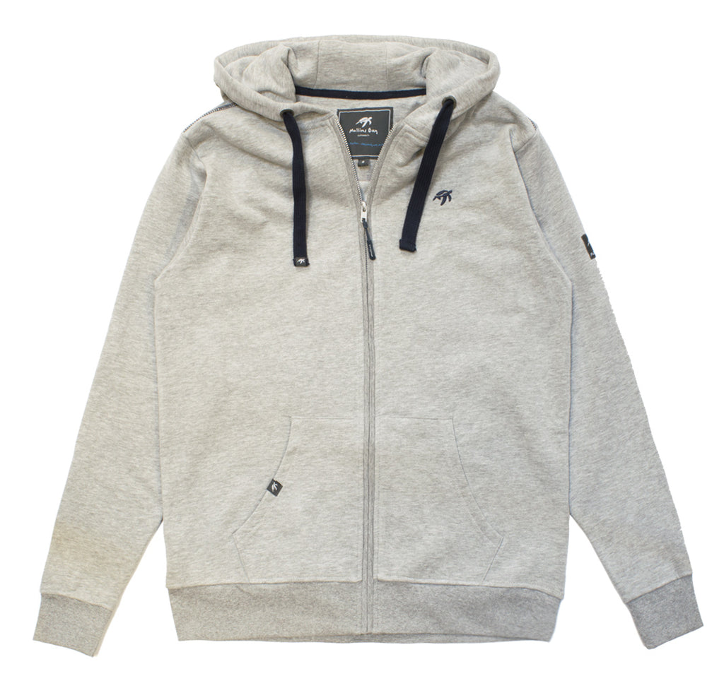 Mens Boatyard Zip Thru Hood - Grey