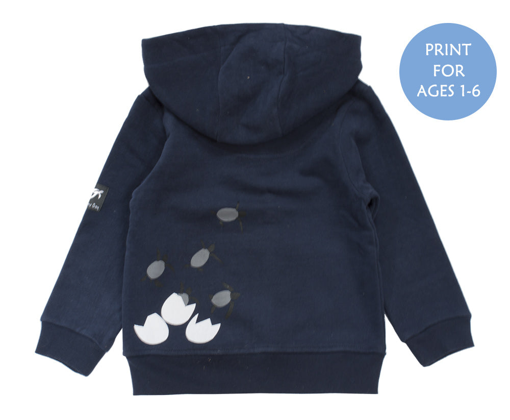 Childrens Boatyard Zip Thru Hood - Navy