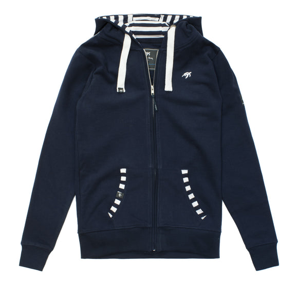 Ladies Boatyard Full Zip Hoodie - Navy