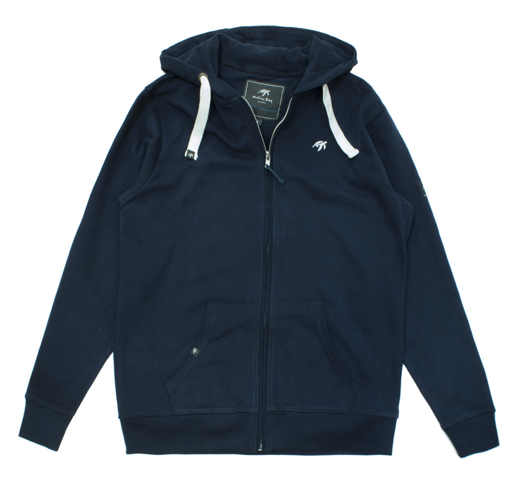 Mens Boatyard Zip Thru Hood - Navy