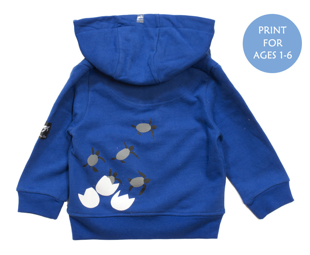 Childrens Boatyard  Full Zip Hood - Electric Blue