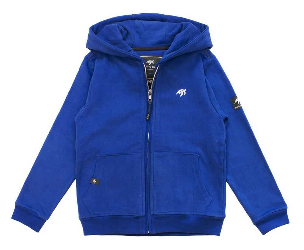 Childrens Boatyard Zip Thru Hood - Electric Blue