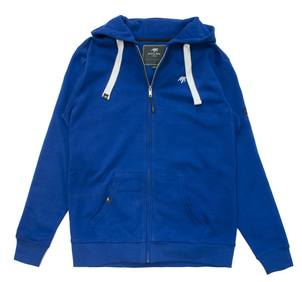 Mens Boatyard Zip Thru Hood - Electric Blue