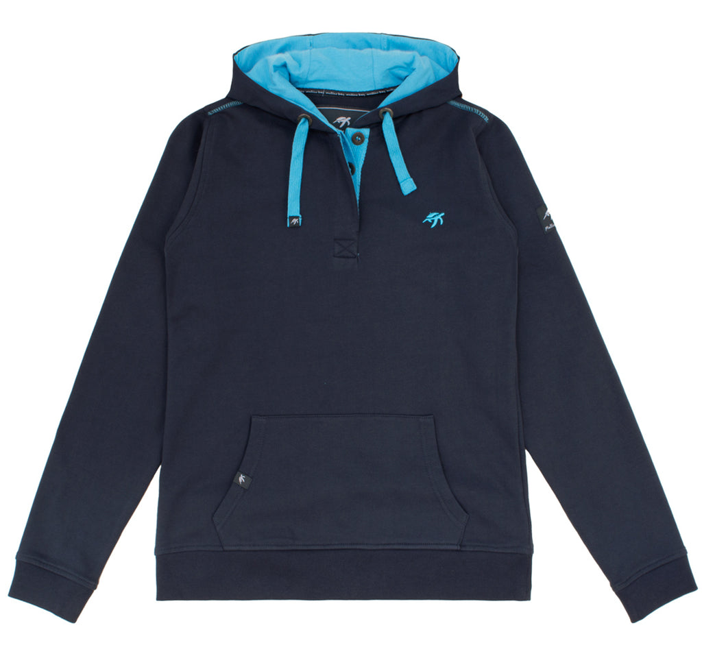 Ladies Boatyard Button Up Hoodie - Harbour