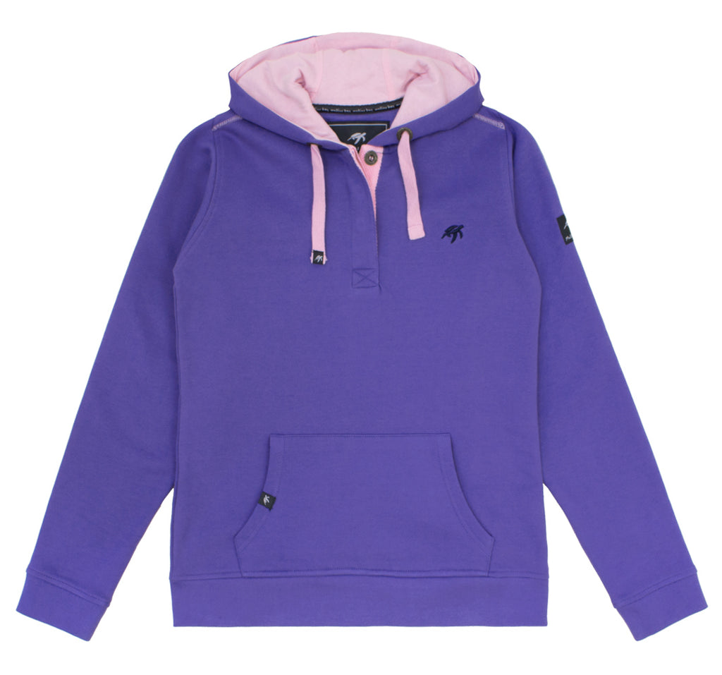 Ladies Boatyard Button Up Hood Indigo Haze