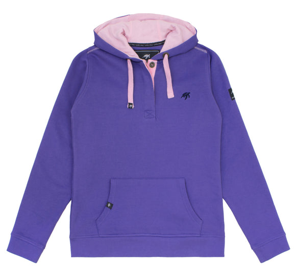 Ladies Boatyard Button Up Hoodie - Indigo Haze
