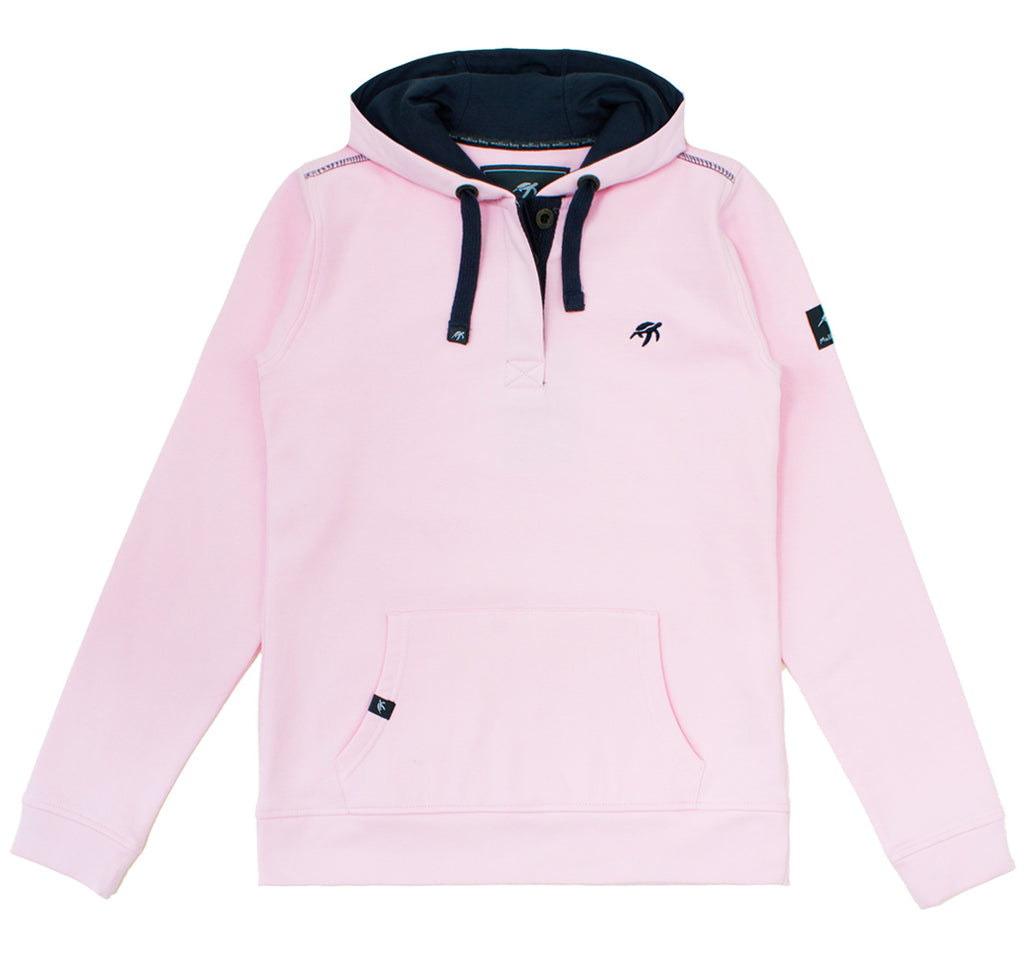 Ladies Boatyard Button Up Hoodie - Ice Pink