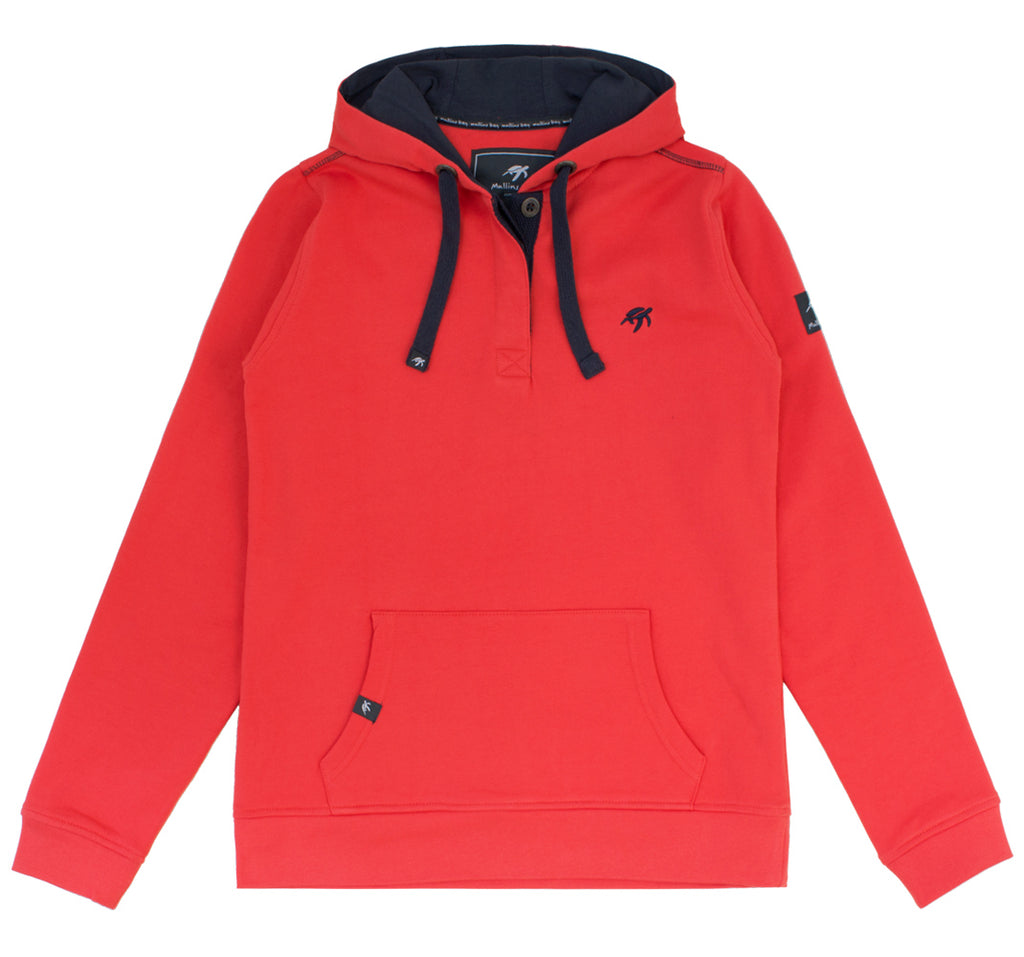Ladies Boatyard Button Up Hood Spicy Red