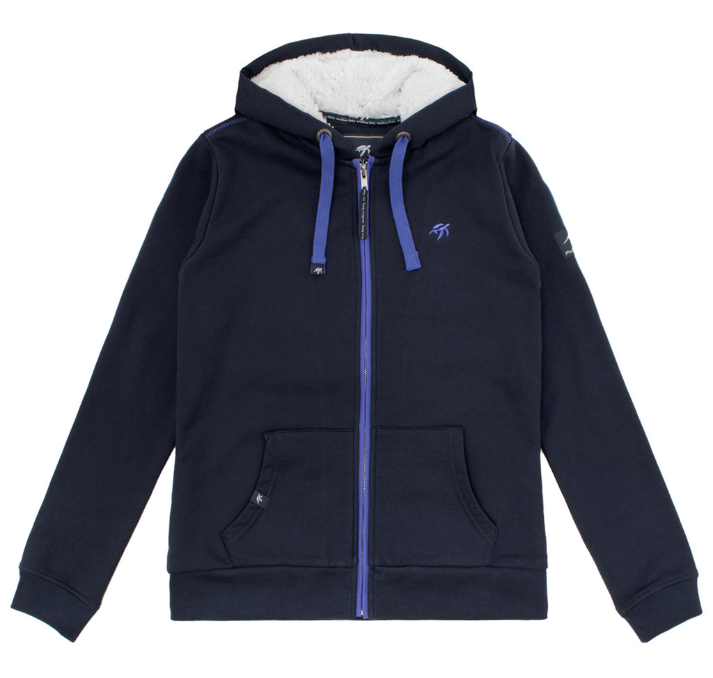 Ladies Boatyard Full Zip Hoodie - Harbour Blue