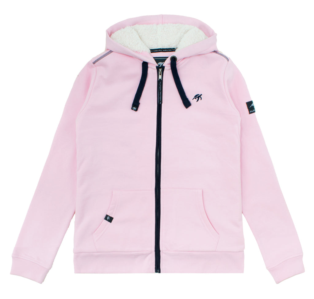 Ladies Boatyard Full Zip Hood Ice Pink