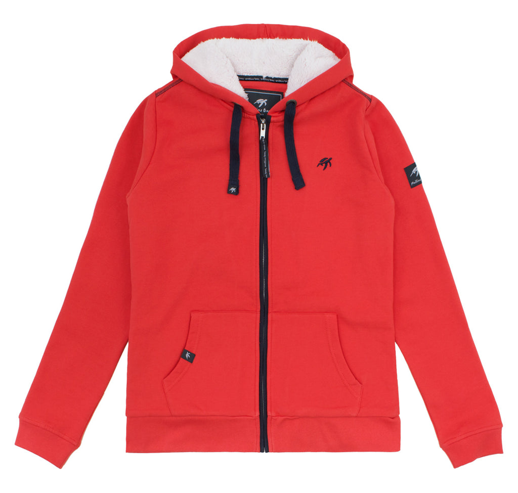 Ladies Boatyard Full Zip Hood Spicy Red