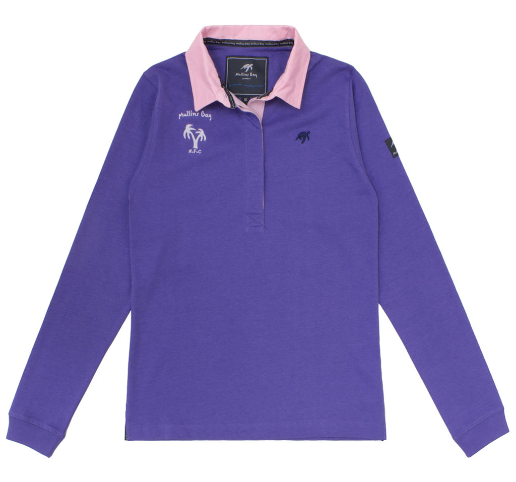 Ladies Mullins Club Rugby Shirt Indigo Haze