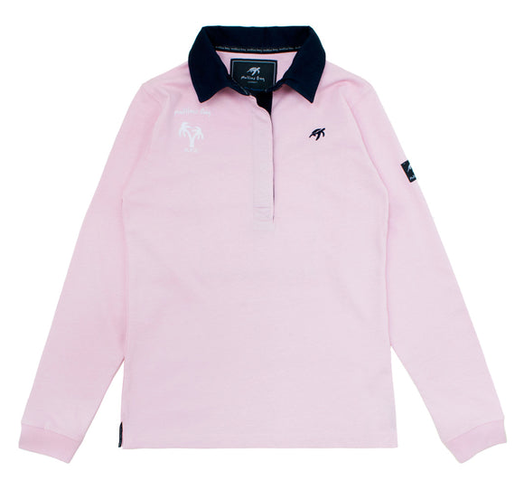 Ladies Mullins Club Rugby Shirt - Ice Pink