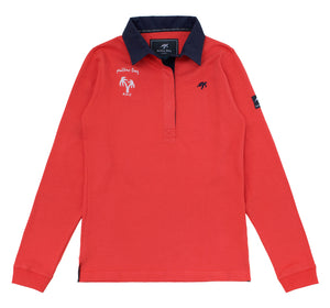 Ladies Mullins Rugby Shirt - Spicy Red