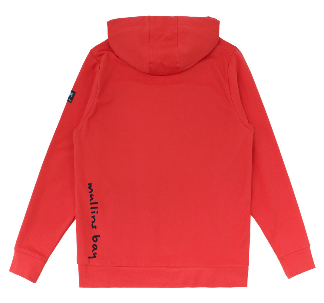 Mens BoatyardFull Zip Hood Spicy Red