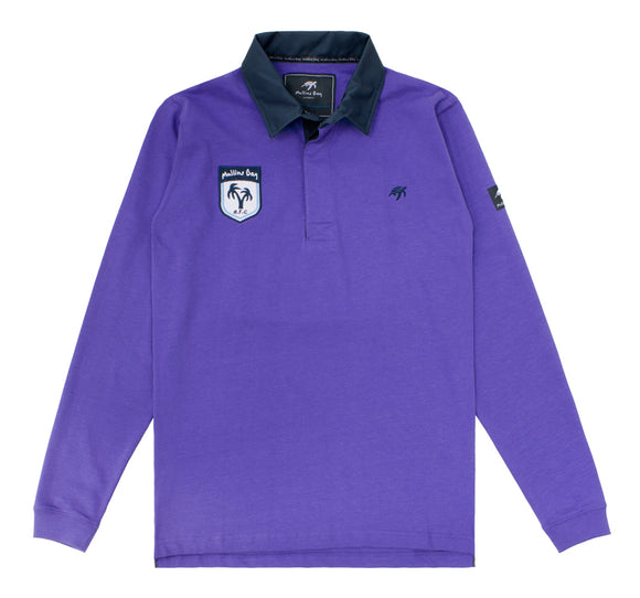 Mens Mullins Club Rugby Shirt - Indigo Haze