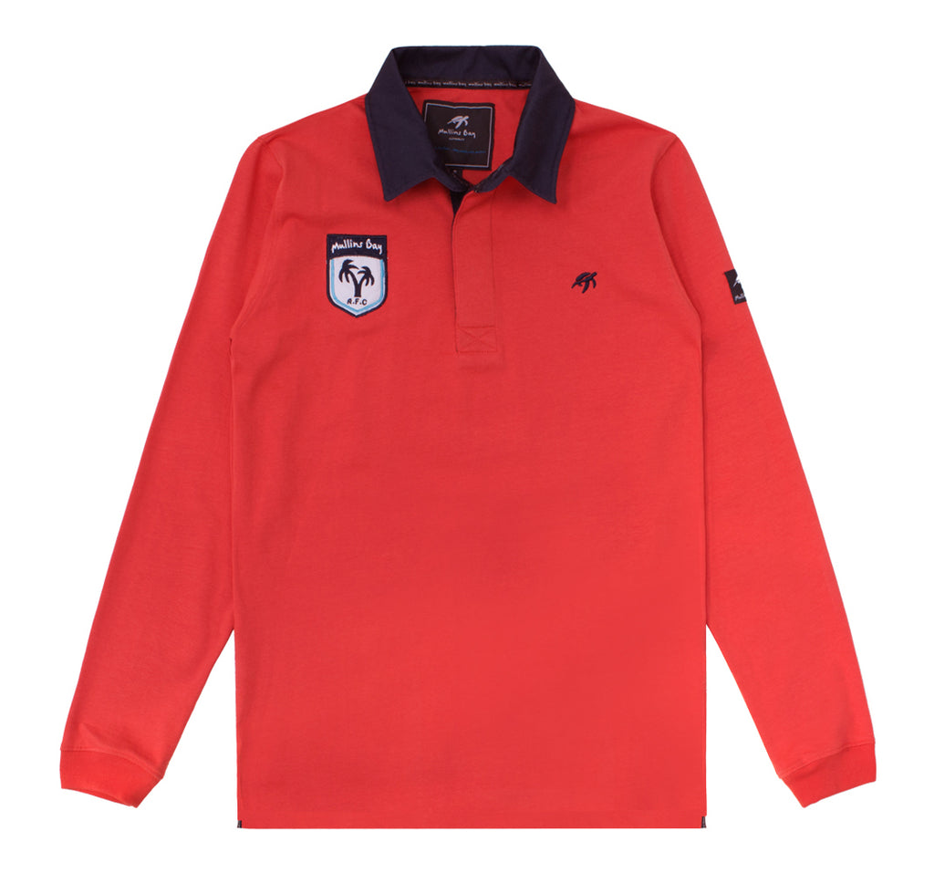 Mens Mullins Club Rugby Shirt Spicy Red