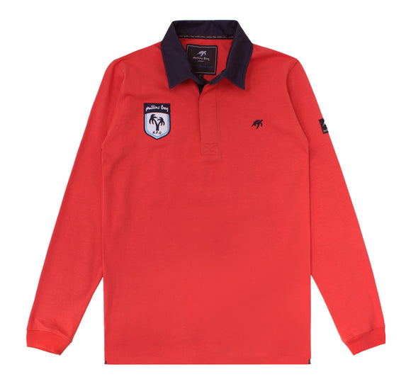 Mens Mullins Club Rugby Shirt - Spicy Red