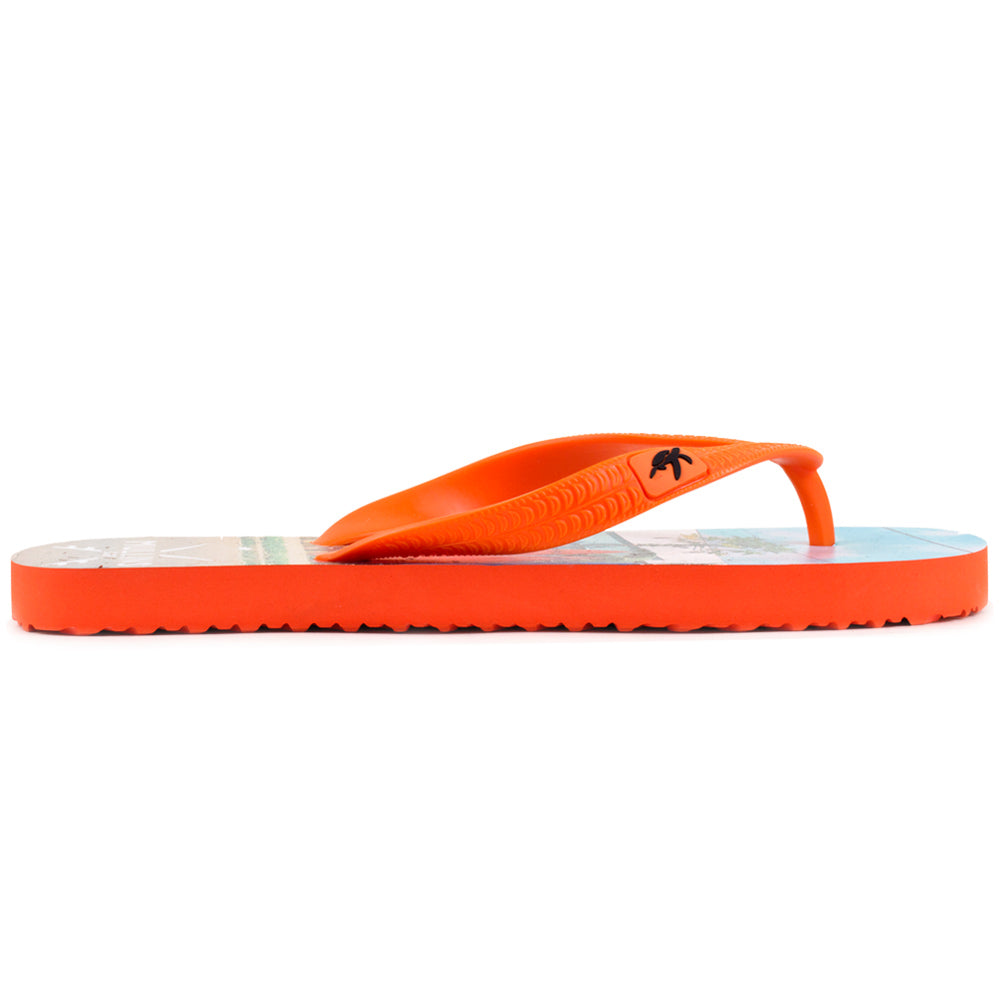Mullins Surf Adults Luxury Flip Flops in Orange