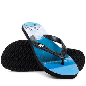 Mullins Surf Childrens Luxury Flip Flops in Black