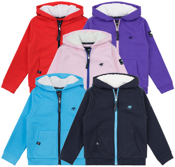 Childrens Full Zip Fluffy Hoodie Bundle - Mix and Match - 3 Pack